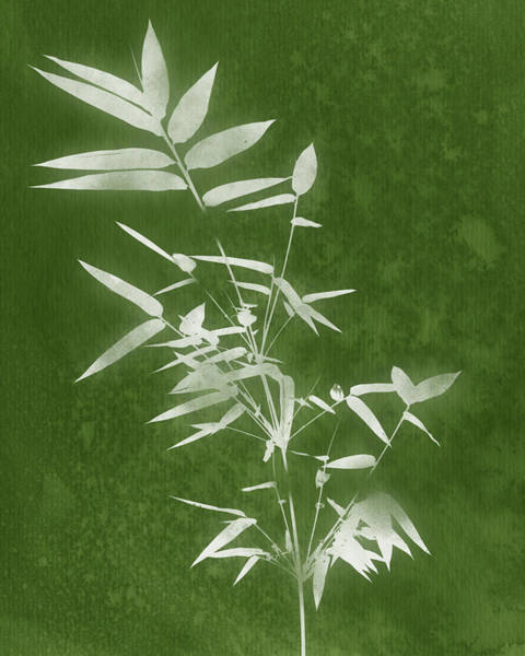 Wall Art - Mixed Media - Green Bamboo 3- Art By Linda Woods by Linda Woods