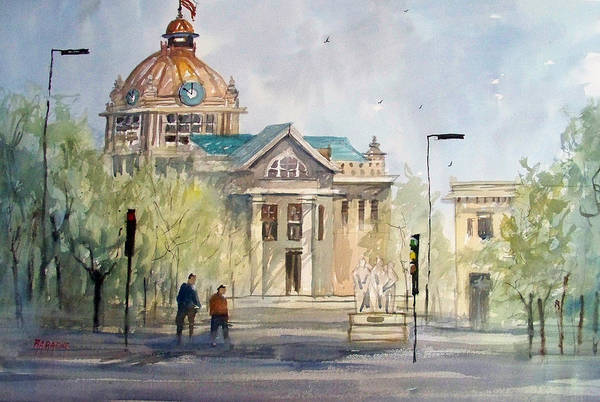Courthouse Painting - Green Bay Courthouse by Ryan Radke