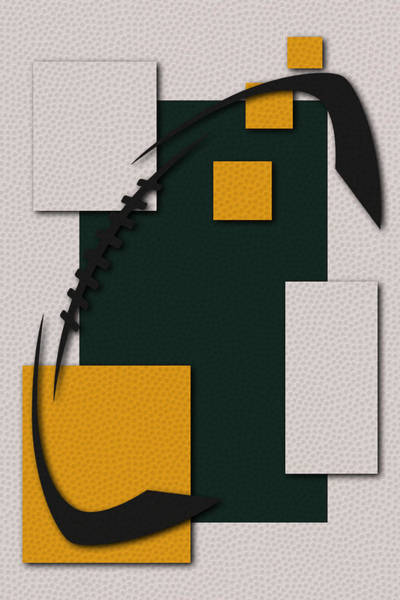 Green Bay Packers Wall Art - Painting - Green Bay Packers Football Art by Joe Hamilton