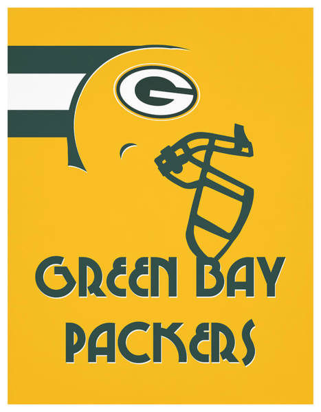 Wall Art - Mixed Media - Green Bay Packers Team Vintage Art by Joe Hamilton