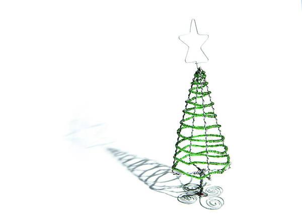 Green Bead Christmas Tree II Art Print