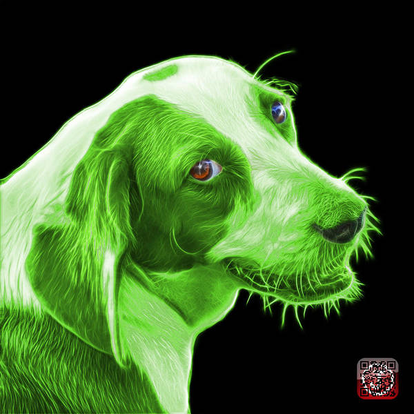 Painting - Green Beagle Dog Art- 6896 - Bb by James Ahn
