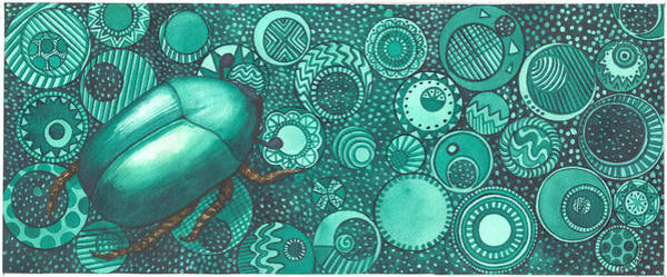 Painting - Green Beetle by Catherine G McElroy