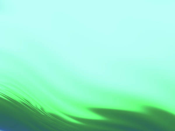 Wall Art - Digital Art - Green Blue Waves by Rich Leighton