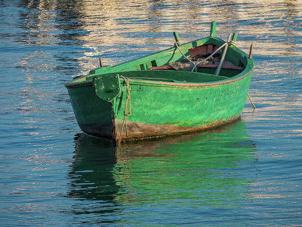 Photograph - Green Boat  by Robin Zygelman