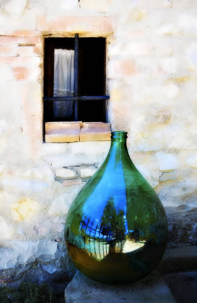 Photograph - Green Bottle Italian Window by Marilyn Hunt