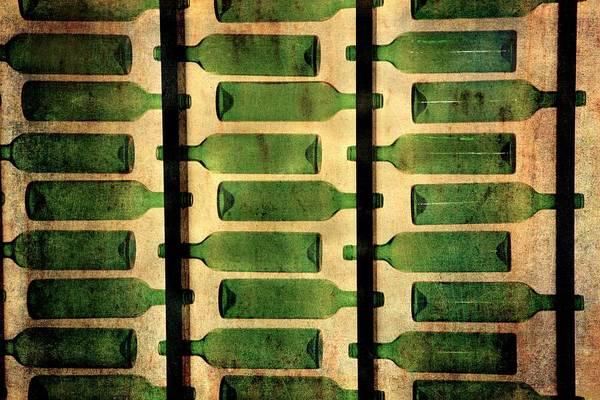 Photograph - Green Bottles by Vittorio Chiampan