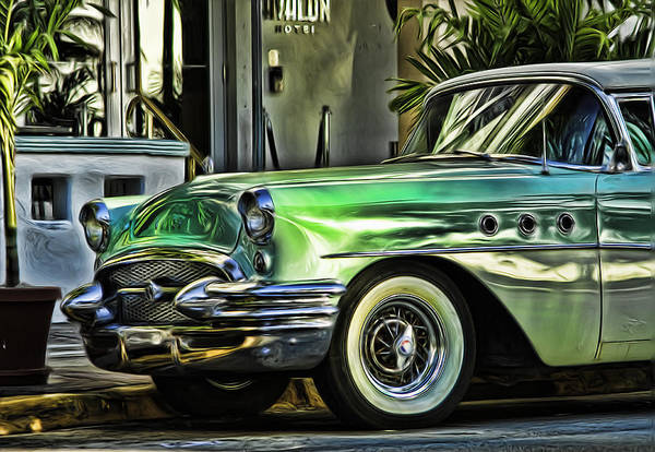 Photograph - Green Buick by Lou  Novick
