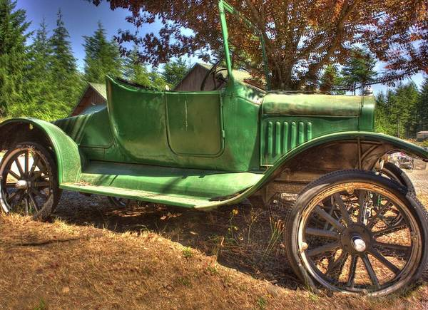 Photograph - Green Car by Lawrence Christopher