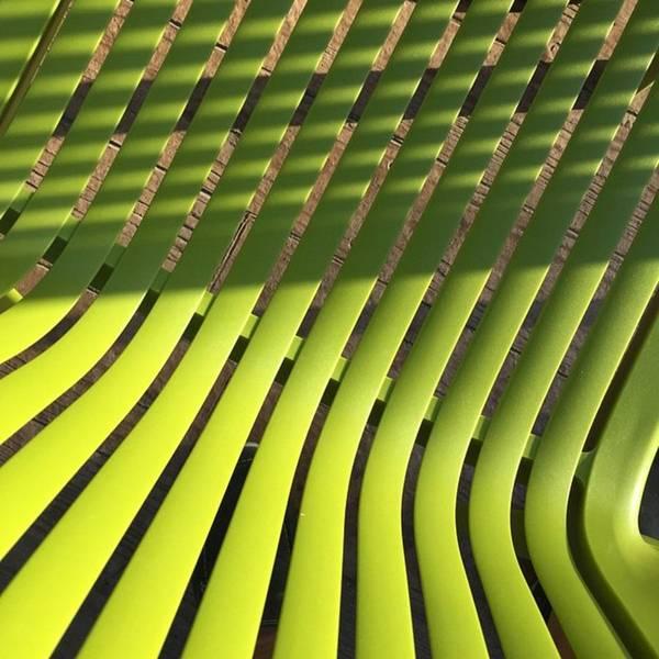 Green Photograph - Green Chair Seen From Above by Juan Silva