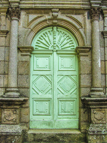 Photograph - Green Church Door I by Helen Northcott