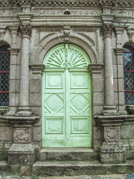 Photograph - Green Church Door II by Helen Northcott