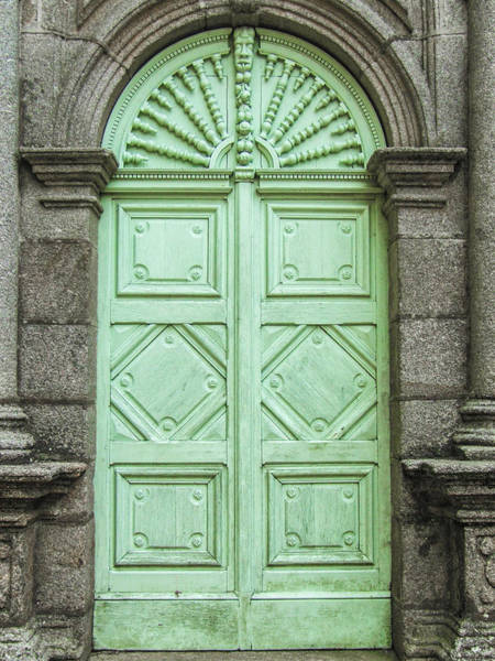 Photograph - Green Church Door IIi by Helen Northcott