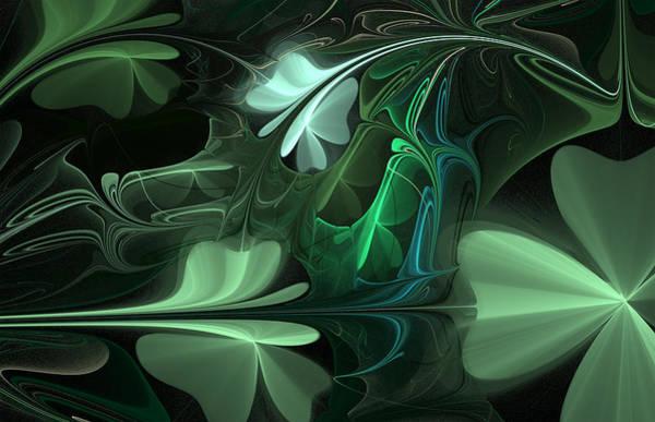 Digital Art - Green Clover Field by Barbara A Lane