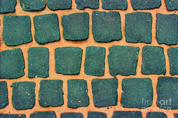 Photograph - Green Cobblestone Abstract by Karen Adams