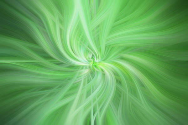 Photograph - Green Colored Abstract. Concept Health by Jenny Rainbow