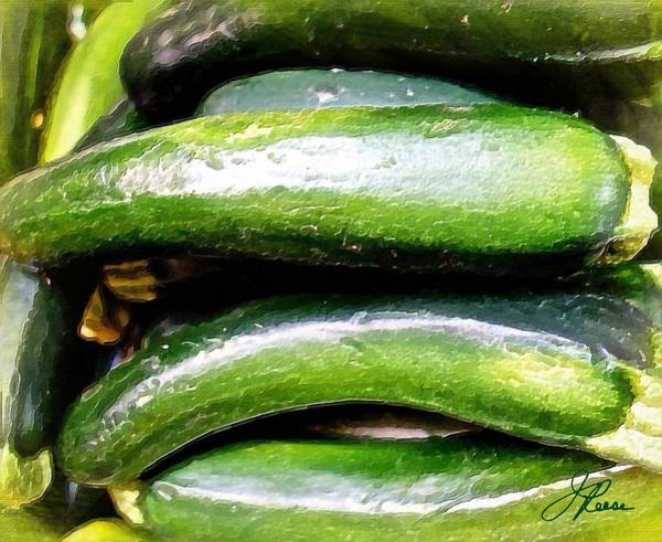 Painting - Green Cucumber by Joan Reese