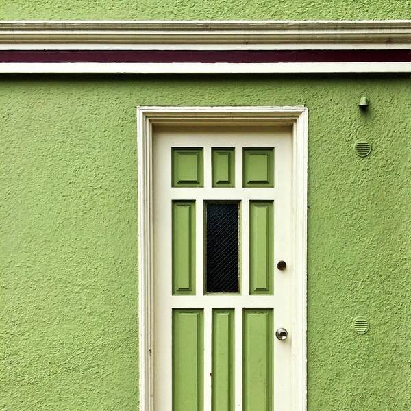 Green Door Detail Art Print