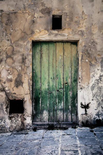Whimsical Photograph - Green Door 3 by Maria Heyens