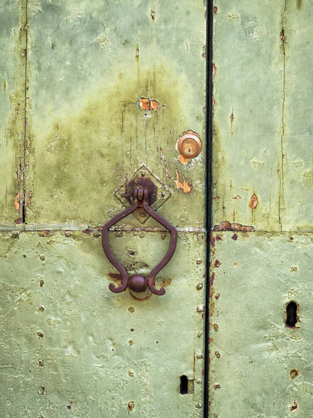 Photograph - Green Door by Robin Zygelman