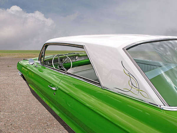 Photograph - Green Dream - '62 Cadillac by Gill Billington