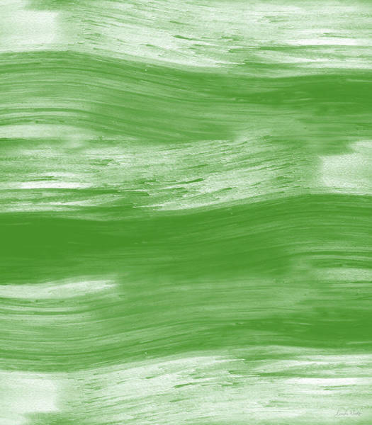 Green Drift- Abstract Art By Linda Woods Art Print