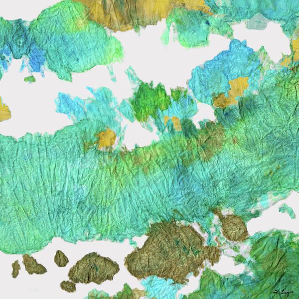 Dark Olive Green Wall Art - Painting - Green Earthy Abstract - Earth Dance - Sharon Cummings by Sharon Cummings