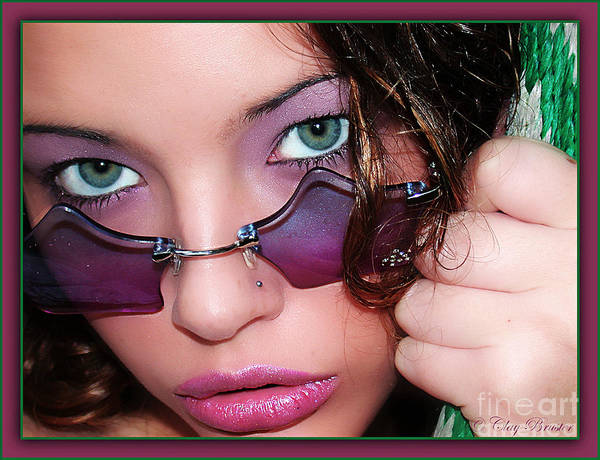 Photograph - Green Eye'd Girl by Clayton Bruster