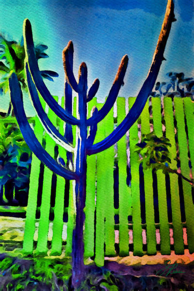 Painting - Green Fence by Joan Reese