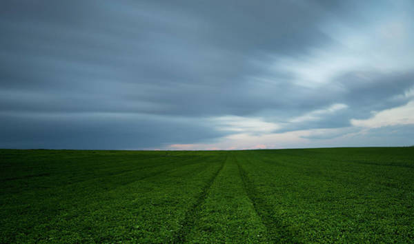 Scenery Wall Art - Photograph - Green Field And Cloudy Sky by Michalakis Ppalis