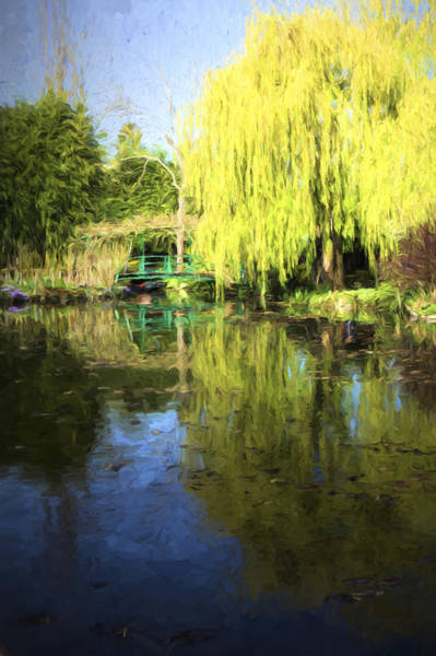 Giverny Photograph - Green Footbridge In Monets Garden by David Smith