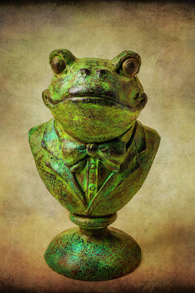 Wall Art - Photograph - Green Frog Statue by Garry Gay
