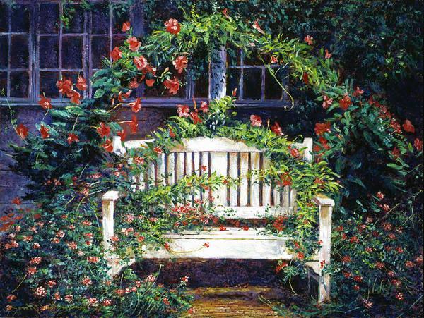 Arbor Wall Art - Painting - Green Gables by David Lloyd Glover