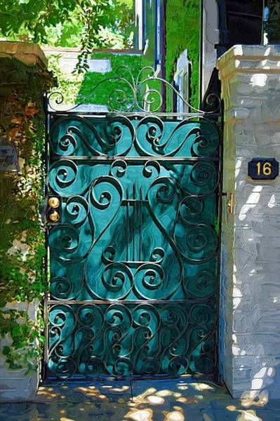 Photograph - Green Gate by Donna Bentley