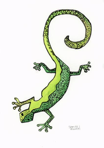 Painting - Green Gecko  by Darice Machel McGuire