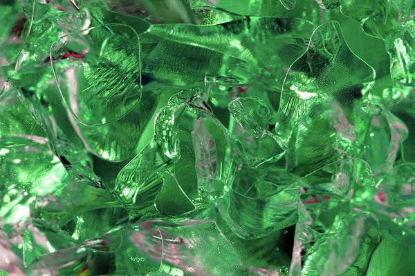 Photograph - Green Gel Abstract by Angela Murdock