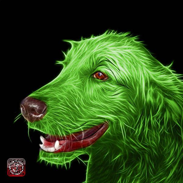 Painting - Green Golden Retriever Dog Art- 5421 - Bb by James Ahn