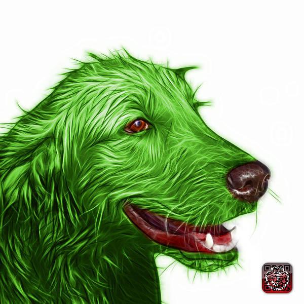 Painting - Green Golden Retriever Dog Art- 5421 - Wb by James Ahn