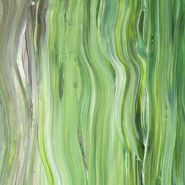 Abstraction Painting - Green Gray Organic Abstract Art For Interior Decor II by Irina Sztukowski