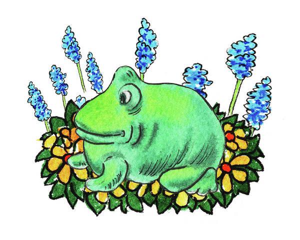 Painting - Green Happy Frog by Irina Sztukowski