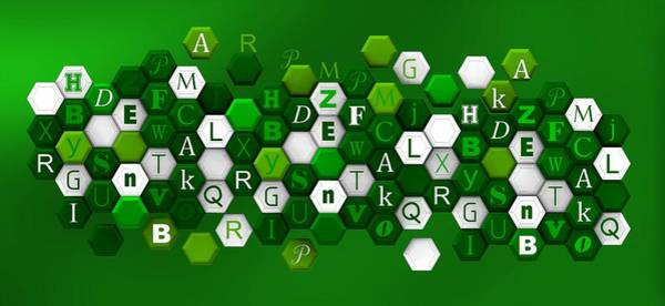 Digital Art - Green Hexagons Over Bright Green by Alberto RuiZ