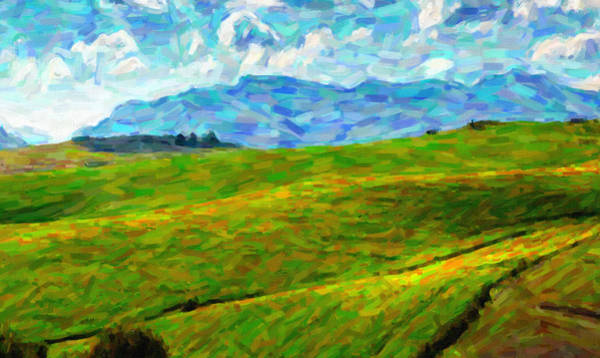Painting - Green Hill by Adam Asar