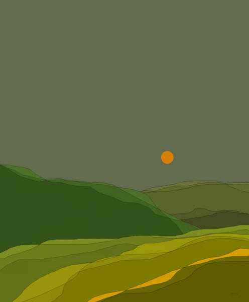 Wall Art - Digital Art - Green Hills In The Valley by Val Arie