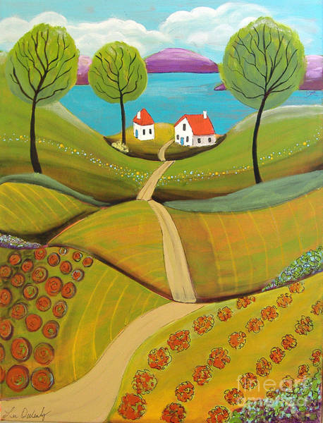 Painting - Green Hills by Lee Owenby