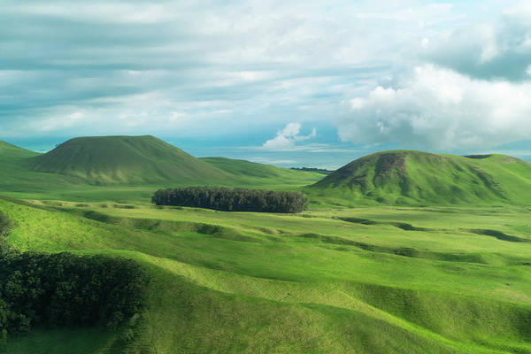 Pasture Wall Art - Photograph - Green Hills On The Big Island Of Hawaii by Larry Marshall