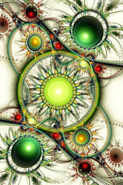 Digital Art - Green Jewelry by Anastasiya Malakhova