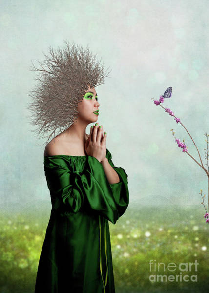Mother Earth Digital Art - Green by Juli Scalzi