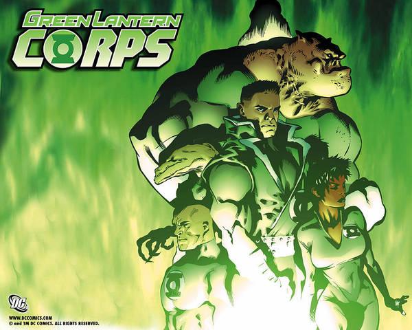 Animal Digital Art - Green Lantern Corps by Maye Loeser