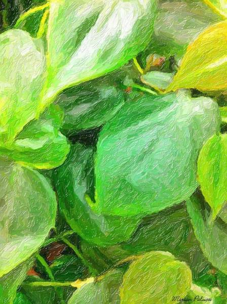 Painting - Green Leaves by Marian Palucci-Lonzetta