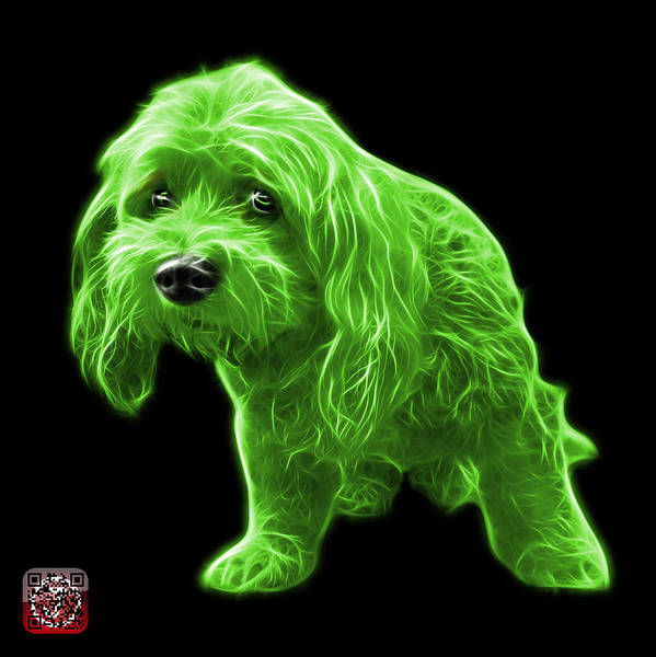 Painting - Green Lhasa Apso Pop Art - 5331 - Bb by James Ahn